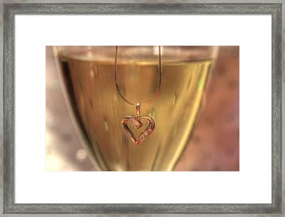 A Toast To Love Framed Print by Sharon Batdorf