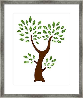 A Tree Framed Print by Frank Tschakert