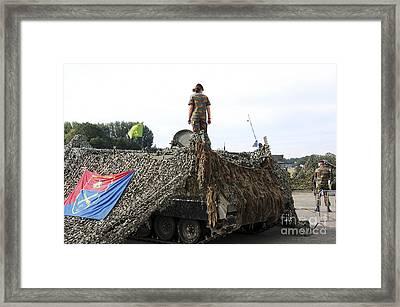 A Unit Of The 2nd Regiment Field Framed Print by Luc De Jaeger