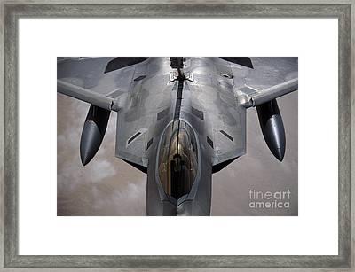 A U.s. Air Force F-22 Raptor Framed Print by Stocktrek Images