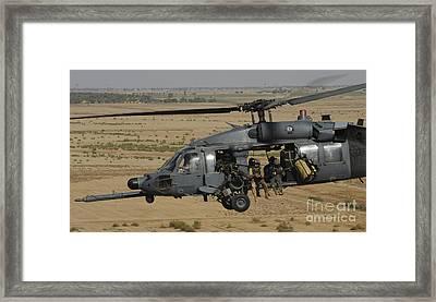 A U.s. Air Force Hh-60 Pavehawk Flies Framed Print by Stocktrek Images
