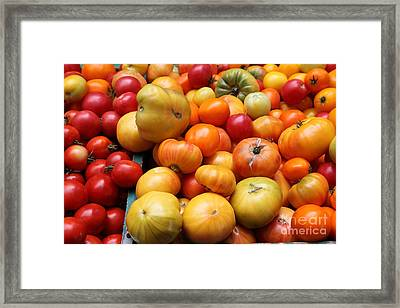 A Variety Of Fresh Tomatoes - 5d17811 Framed Print by Wingsdomain Art and Photography