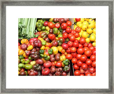 A Variety Of Fresh Tomatoes And Celeries - 5d17901 Framed Print by Wingsdomain Art and Photography