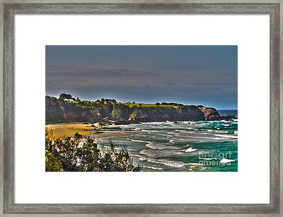 A View From A Hill Framed Print by Joanne Kocwin