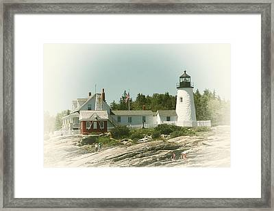 A View From The Water Framed Print by Karol Livote