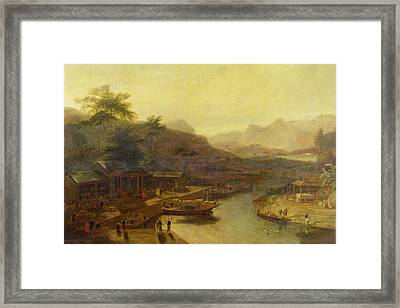 A View In China - Cultivating The Tea Plant Framed Print by William Daniell
