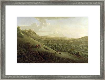 A View Of Boxhill - Surrey Framed Print by George Lambert