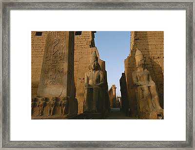 A View Of Luxor Temple Framed Print by Kenneth Garrett