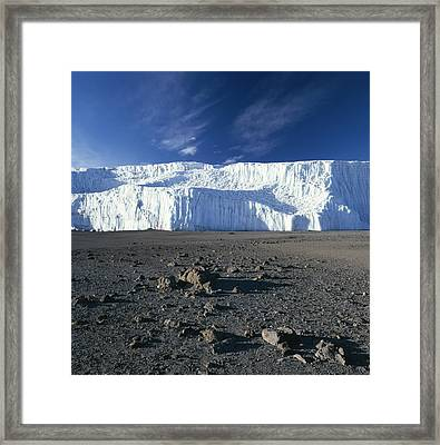 A View Of Mount Kilimanjaros Summit Framed Print by David Pluth