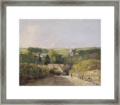 A View Of Osmington Village With The Church And Vicarage Framed Print by John Constable
