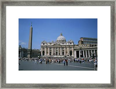 A View Of St Peters Basilica In Vatican Framed Print by Taylor S. Kennedy