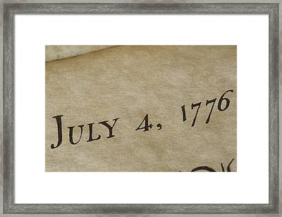 A View Of The Declaration Framed Print by Taylor S. Kennedy