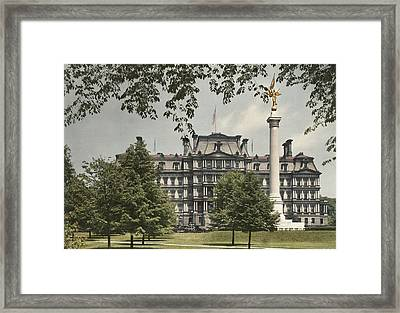 A View Of The Government Building Framed Print by Charles Martin