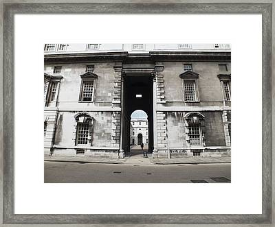 A View Of The Royal Naval College Framed Print by Anna Villarreal Garbis