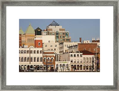 A View Of The Skyline Of Victoria Framed Print by Taylor S. Kennedy