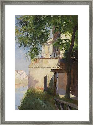 A View Of Venice From A Terrace Framed Print by Henry Woods