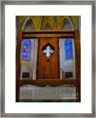 A View To Saint Ann's Chapel Framed Print by Susan Candelario
