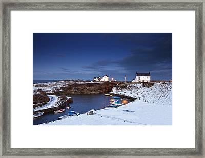 A Village On The Coast Seaton Sluice Framed Print by John Short