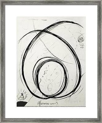 A Waving Off Framed Print by Michael Morgan