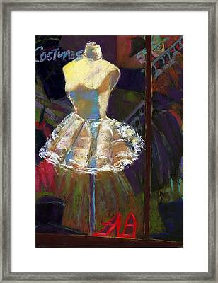 A White Costume Framed Print by Cheryl Whitehall
