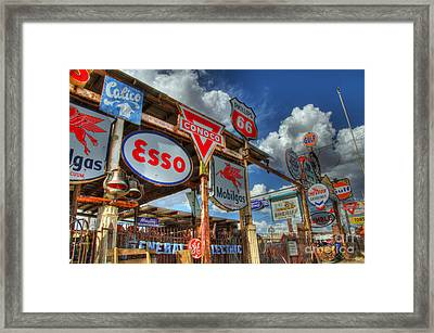 A Whole Lotta Signs Framed Print by Bob Christopher