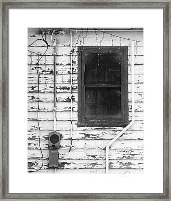 A Window Into Christmas Past Framed Print by Bob Russman