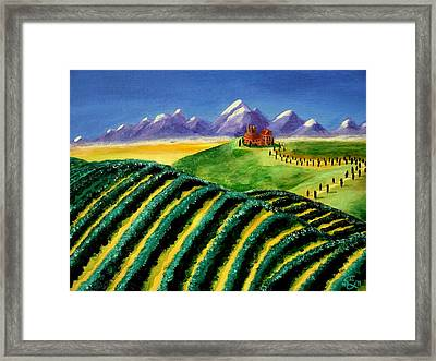 A Winery In Tuscany Framed Print by Spencer Hudon II