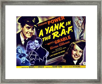 A Yank In The R.a.f., Tyrone Power Framed Print by Everett
