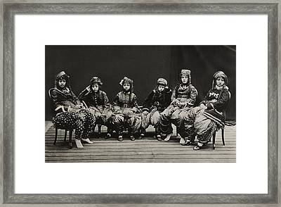 A Young Group Of Well Dressed Nepali Framed Print by John-Claude White
