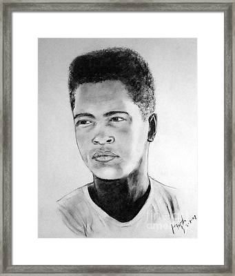 A Young Muhammad Ali Aka Cassius Clay Framed Print by Jim Fitzpatrick