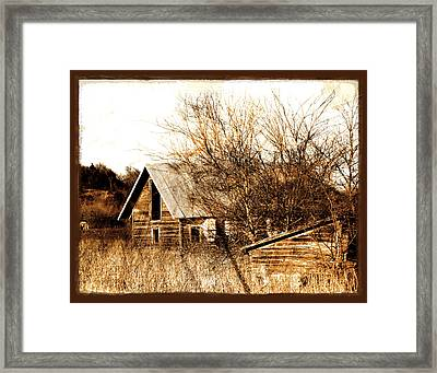 Abandoned Barn  Framed Print by Ann Powell