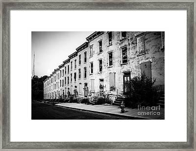 Abandoned Glencoe-auburn Buildings Cincinnati Ohio Framed Print by Paul Velgos