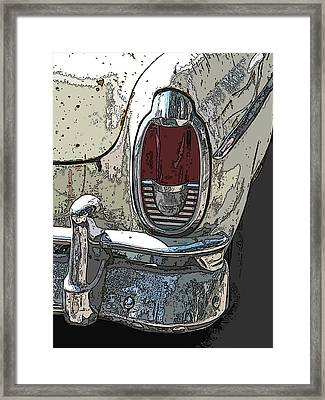 Abandoned Mercury Montclair Tail Light Framed Print by Samuel Sheats
