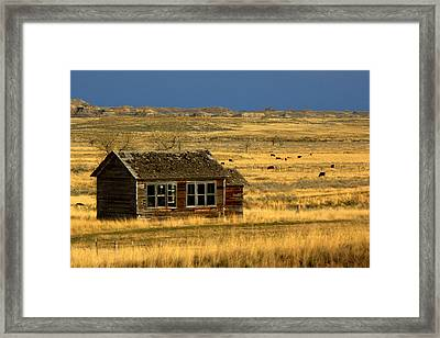 Abandoned Schoolhouse Framed Print by Tam Graff