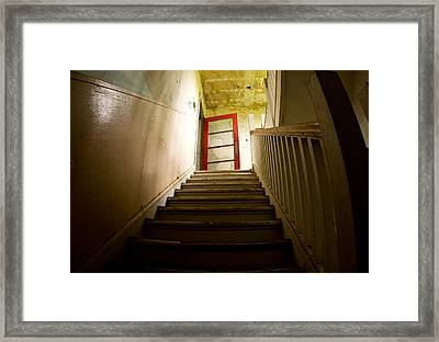 Abandoned Staircase Framed Print by Cale Best
