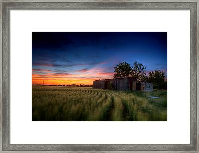 Abandoned View Framed Print by Thomas Zimmerman