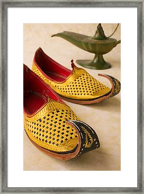 Abarian Shoes Framed Print by Garry Gay
