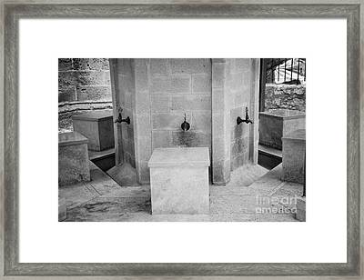 Ablution Fountains Outside The Lala Mustafa Pasha Mosque In Famagusta Turkish Republic Cyprus Framed Print by Joe Fox