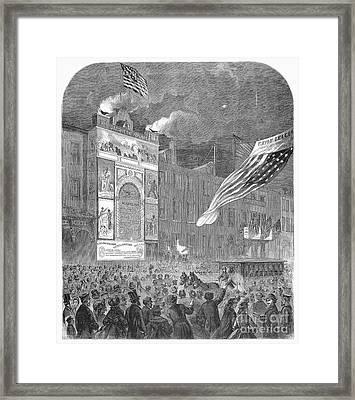 Abolition Of Slavery, 1864 Framed Print by Granger