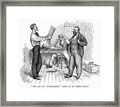 Abolitionist Newspaper Framed Print by Granger