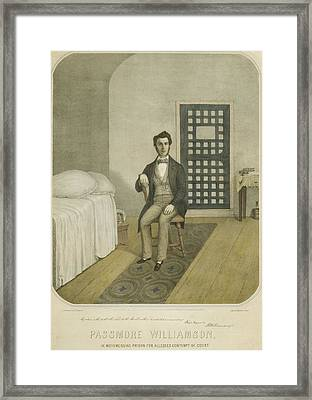 Abolitionist Passmore Williamson Framed Print by Everett