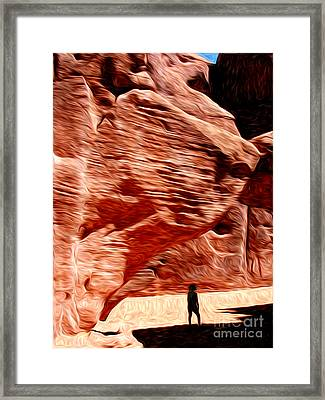 Aboriginal Morning Framed Print by Laura Brightwood