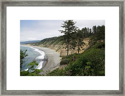 Above Agate Beach Framed Print by Michael Picco