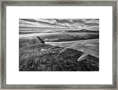Above Seattle Framed Print by A A