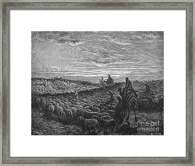 Abraham Entering Canaan Framed Print by Granger