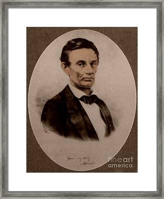 Abraham Lincoln, 16th American President Framed Print by Science Source