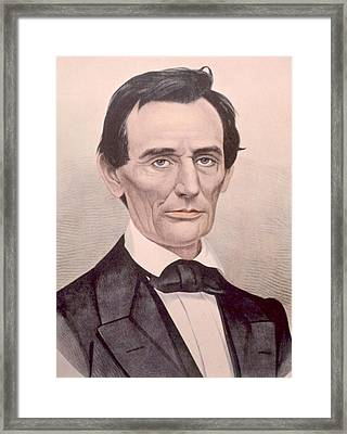 Abraham Lincoln 1808-1865, U.s Framed Print by Everett