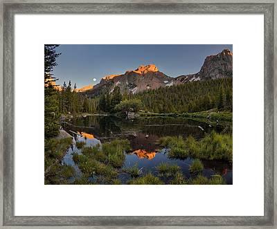 Absaroka Range Reflection Framed Print by Leland D Howard