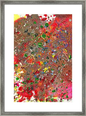 Abstract - Crayon - Montazuma's Revenge Framed Print by Mike Savad