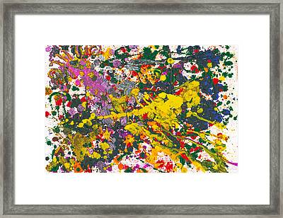 Abstract - Crayon - One Evening At The Diner Framed Print by Mike Savad